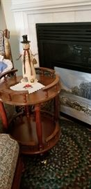 BRAIDED RUGS  --  ROUND SIDE TABLE  --  PAINTING