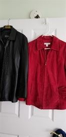 WILSON LEATHER JACKET  --  COLDWATER CREEK  SUEDE JACKET W/MATCH