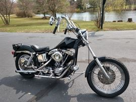 1976 Harley Davidson Super Glide FX, one owner