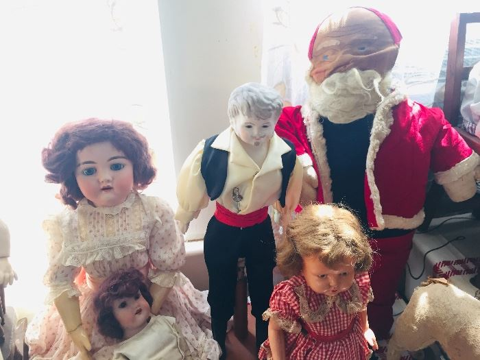 character dolls--Can you see the EARLY cloth Santa Doll?