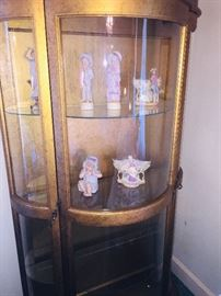 we have several lighted china cabinets--we have at least 40-50 pieces of early painted figurines