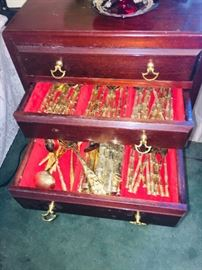HUGE brass flatware set