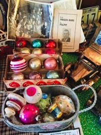just some of the vintage Christmas--found more after picture was made (do you see just a bit of the paper ephmera)