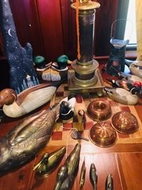 our carved duck collection plus early copper molds