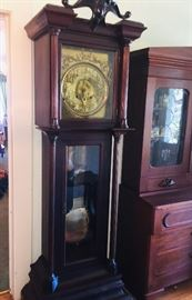19th century FINE tall case clock that was featured in Steamboat House in New Iberia
