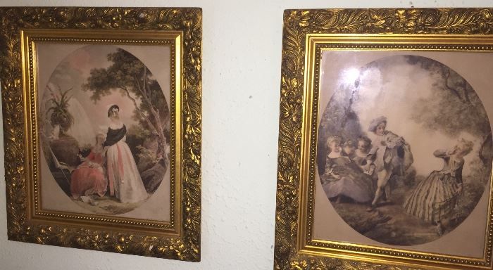early French framed prints