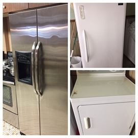 PLUS we have like new stainless refrig, stainless electric stove and dryer, and freezer