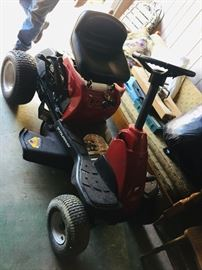 """a """"like new"""" riding lawn mower that runs--we'll let you mow to try it out"""