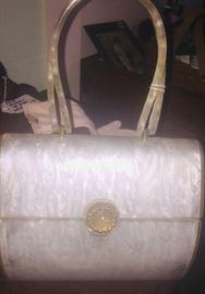 beautiful 1960's Lucite handbag