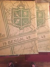 Several early yearbooks including Jeanerette 1949