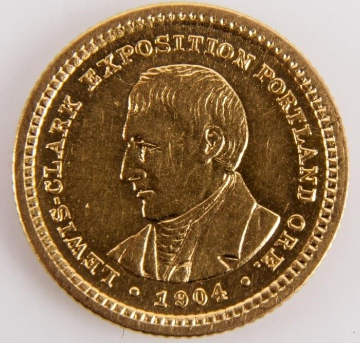 Lot 93 - Coin 1904 Lewis & Clark $1 Gold Commemorative BU