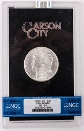 Lot 39 - Coin 1883-CC Morgan Silver Dollar NGC MS64 GSA