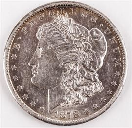 Lot 198 - Coin 1878-CC Morgan Silver Dollar XF/ AU