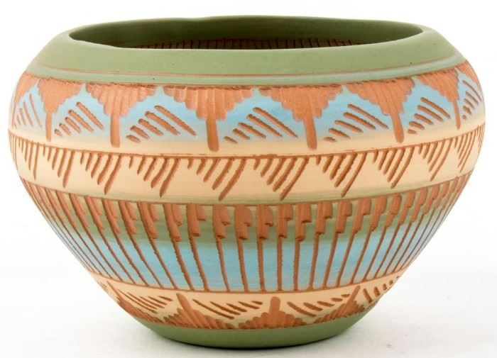 Lot 56 - Native American Pottery, Rare Style and Signed
