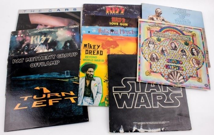 Lot 348 - Vintage Lot of 10- 1970 1980s Rock Albums