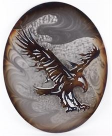 Lot 364 - Art Stainless Steel Eagle Cut Out Wall Hanging