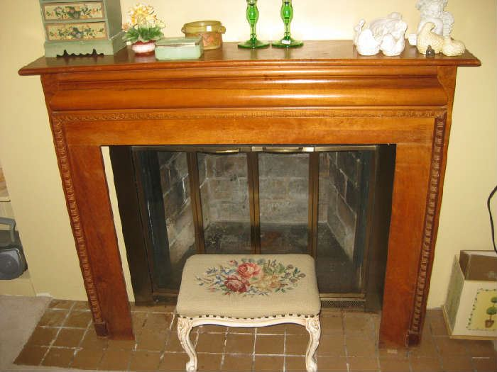 fireplace mantle is for sale
