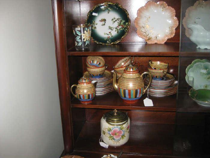 bisquit jar as is , Japan tea set