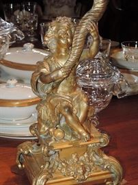 Detail of 19th Century Candelabra  / Bronze (one of a pair)