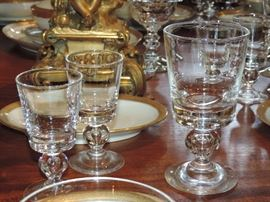 """Steuben  - flat bottom - tear drop - sold in the """"sets"""" we have by size - (not sold separately)"""