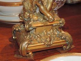 Detail of Bronze Putti-Candlesticks