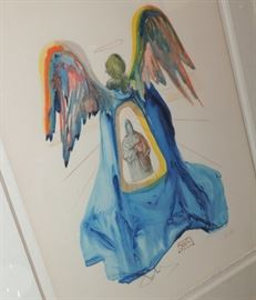 Salvador Dali Blue Angel Artist Proof Pencil Signed AUTHENTIC
