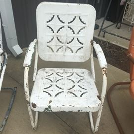 Vintage, metal bouncer chair