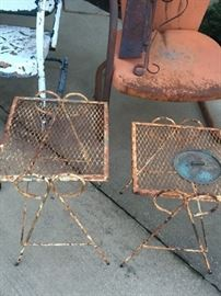 Vintage iron tables