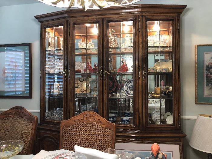 TRIPLE BERNHARDT CHINA CABINET