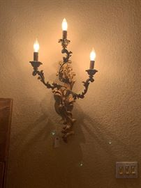 Pair of electrified Sconces