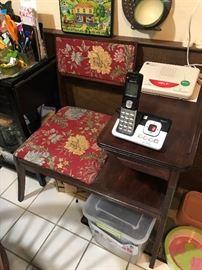 Antique Telephone Table $ 122.00