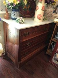 Marble Top 3 Drawer Dresser $ 246.00