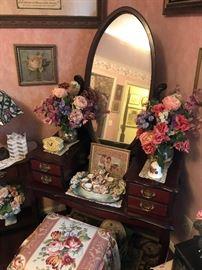 Antique Vanity with Mirror $ 174.00