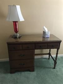 Writing desk - Shown with Cranberry base lamp