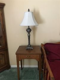 One of several lamp tables.  Shown with Brass base lamp