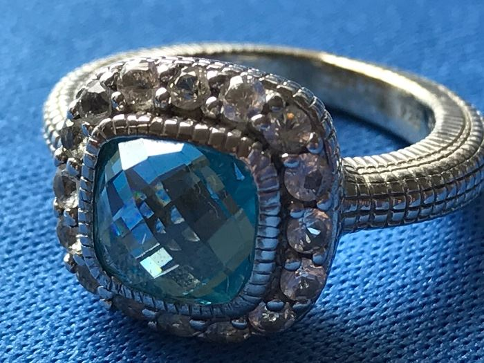 Sterling Silver with Aquamarine