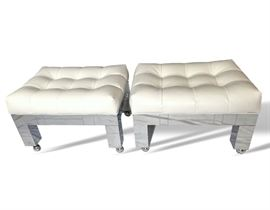 Buy it Now - Paul Evans CityScape Parsons Benches - Pair - $2,000. Text Patty at 847-772-0404 to complete the transaction.