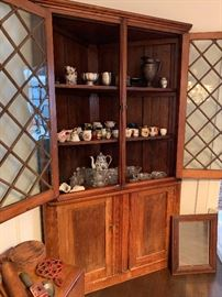This corner cupboard is for sale! Filled with all sorts of little treasures.