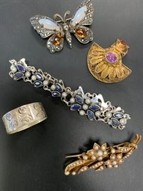 Fine and costume vintage jewelry