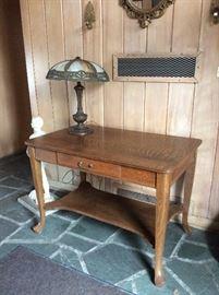 Oak entrance table