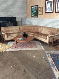 Retro 3 piece sectional sofa