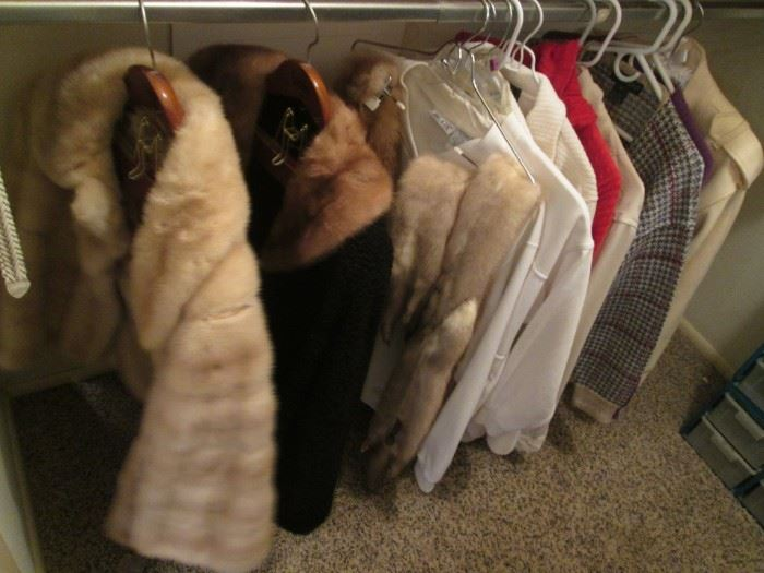 Mink Stole, Fox Fur Wrap + Other Ladies Clothing