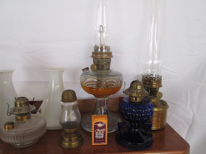 Collection Details.  We also have several Milk Glass Reflectors for Kerosene Lamps