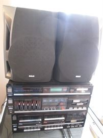 Sanyo #RD W 685, 2 pieces & RCA Speakers #RS2501