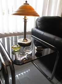 Set of 3-Metal & Glass End or Accent Tables