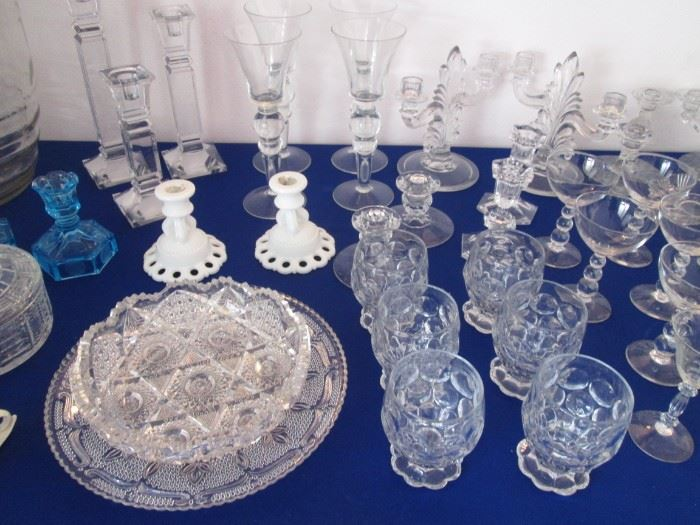 Variety of Candlesticks & Goblets.