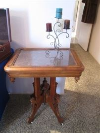 Antique Victorian Eastlake Lamp Table, Walnut
