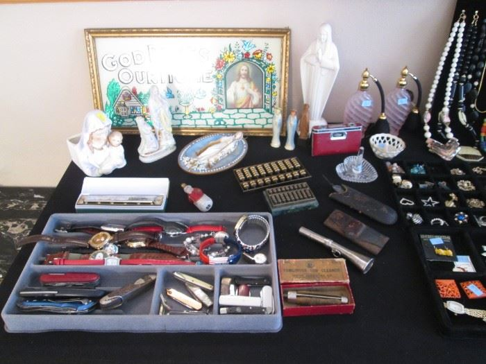Madonna Collection, Knives, Watches, Perfume Atomizers, Waterford Ring Holder, Harmonica and other Goodies!