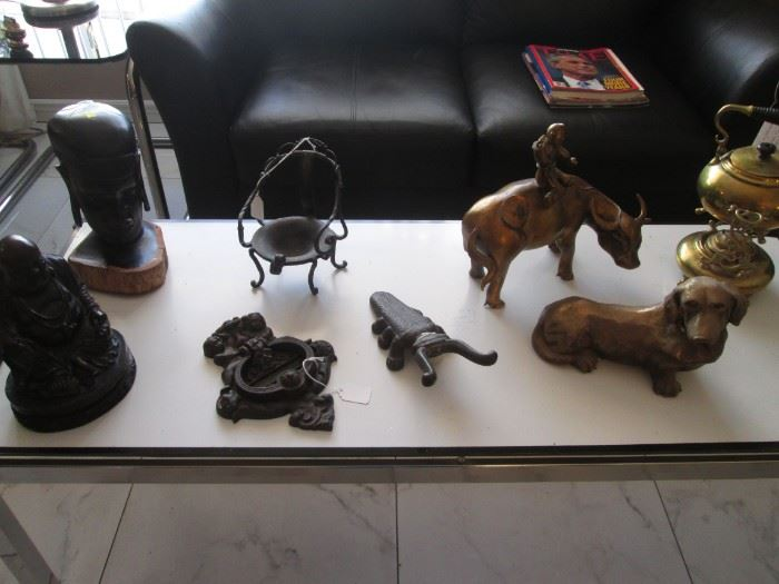 Bull with Asian Rider, Teapot, Dachshund and More