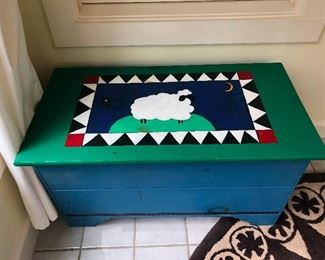 folk art chest